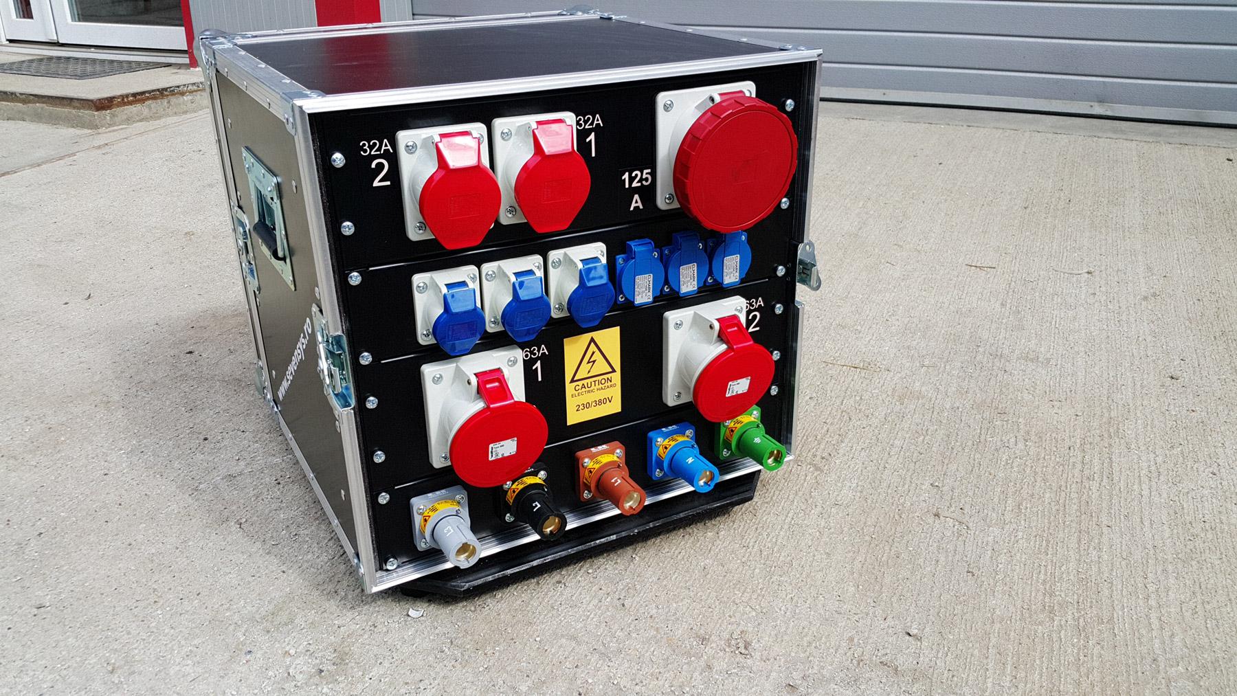 Distribuție trifazată de putere 400A PLCK-125A63A